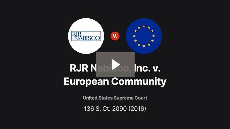 RJR Nabisco, Inc., v. European Community
