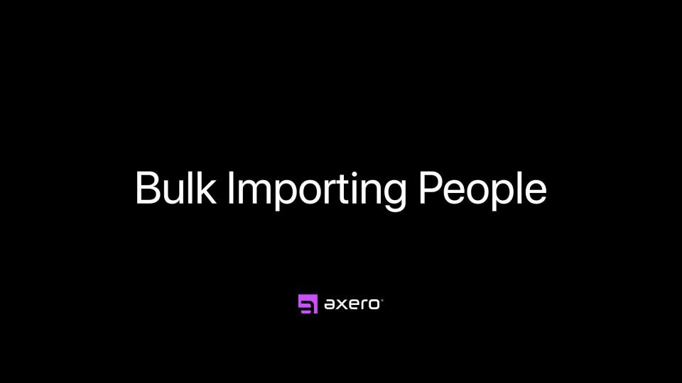 Bulk Importing People