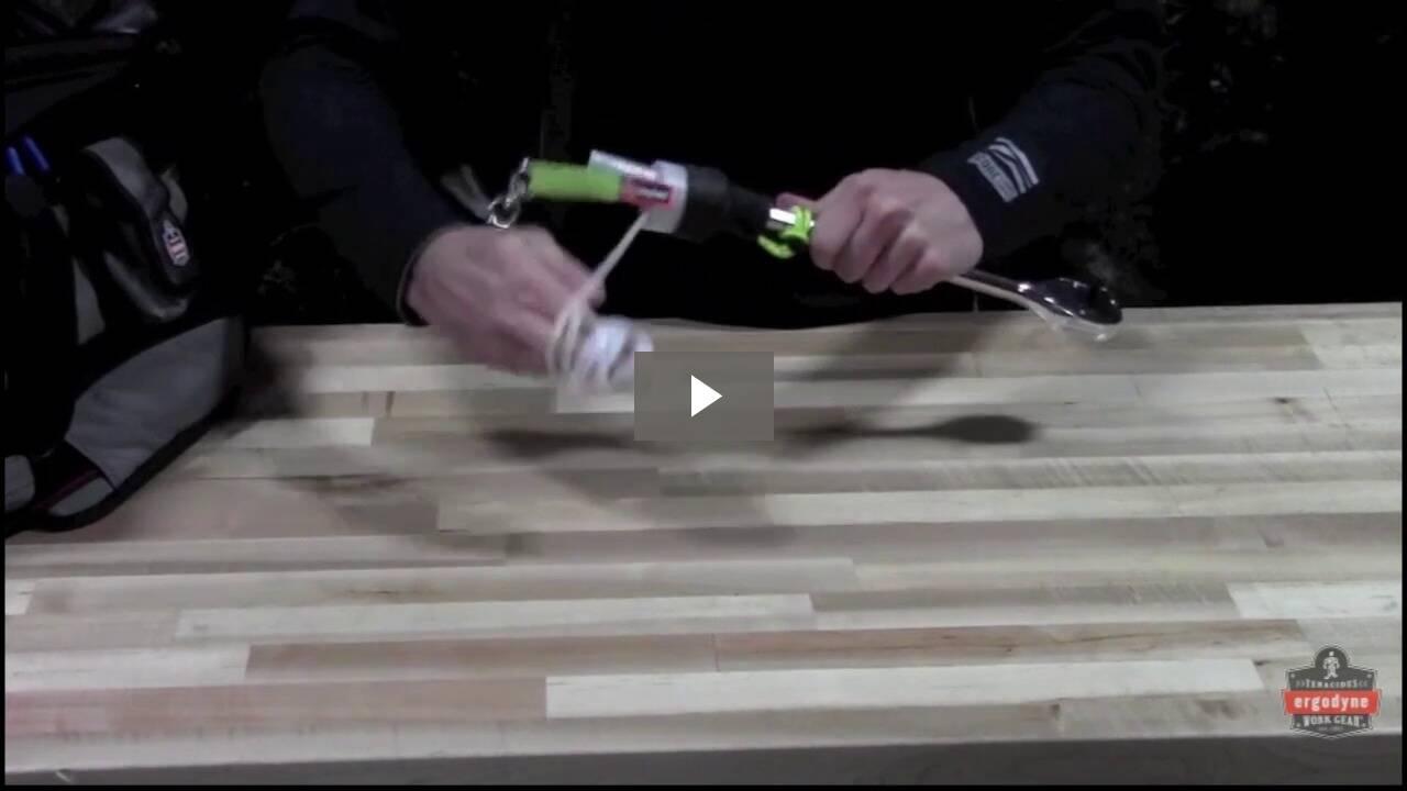 Ergodyne Product Video - Squids<sup>®</sup> 3713 Elastic Loop Tool Tails<sup>™</sup> Swivel - 10lbs (60-Pack)