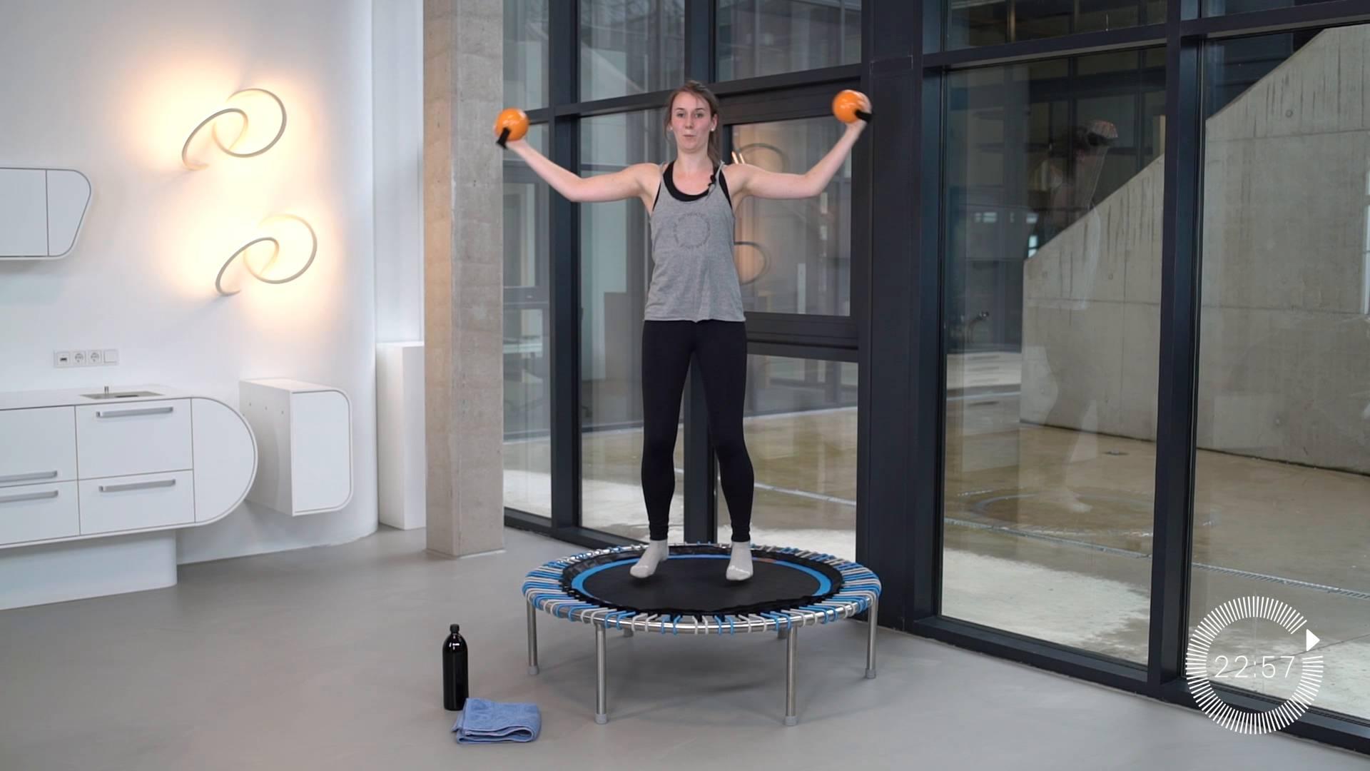 Schlechtwetter-Workout für den ganzen Körper | Mini Trampolin ...