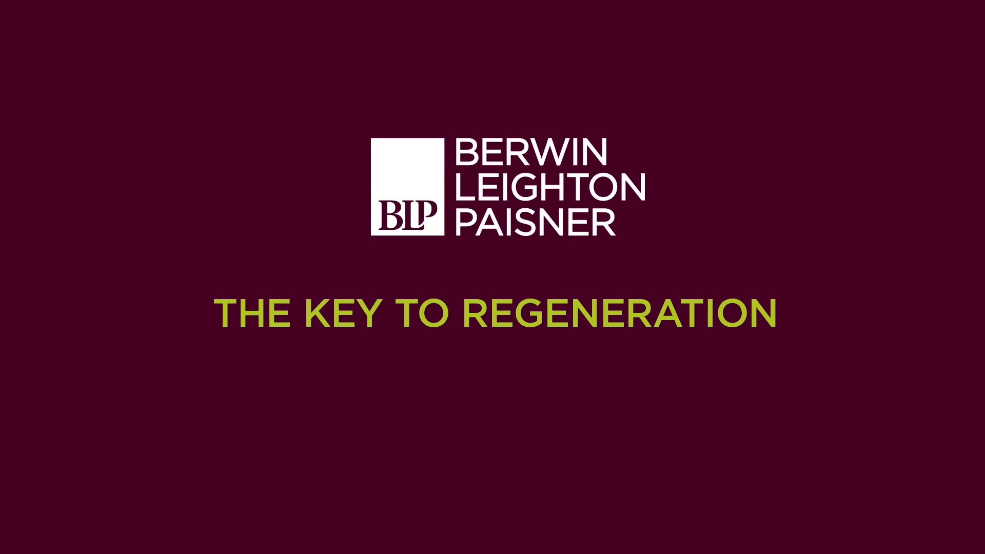 Still image from 'The key to regeneration' video