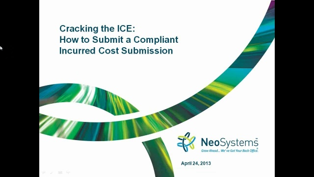 Cracking The Ice How To Submit A Compliant Incurred Cost Submission