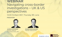 Still image from 'Navigating cross-border investigations - UK & US perspectives' video