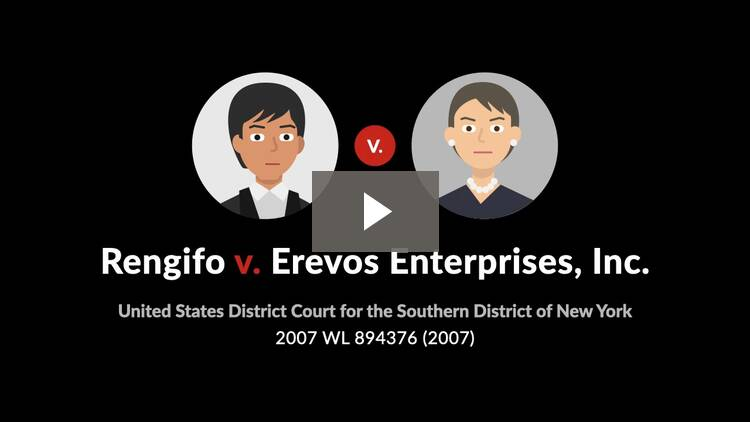 Rengifo v. Erevos Enterprises, Inc.