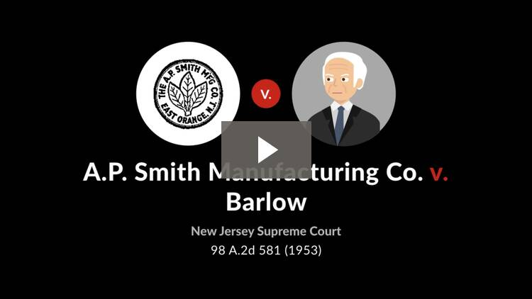 A.P. Smith Mfg. Co. v. Barlow