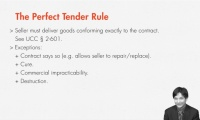 Selling Goods Is Hard to Do? The Perfect Tender Rule thumbnail