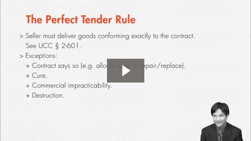 Selling Goods Is Hard to Do? The Perfect Tender Rule