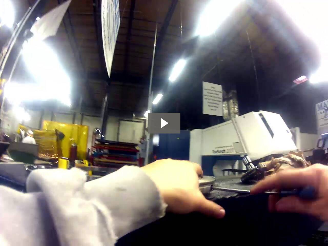 Setting up the CNC punch machine