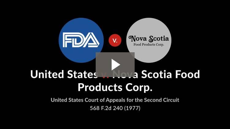 United States v. Nova Scotia Food Products Corp.
