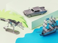 Video: Metal Earth | 3D Laser Cut Metal Model Building Kit