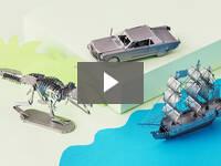 Video for 3D Laser Cut Metal Model Building Kit