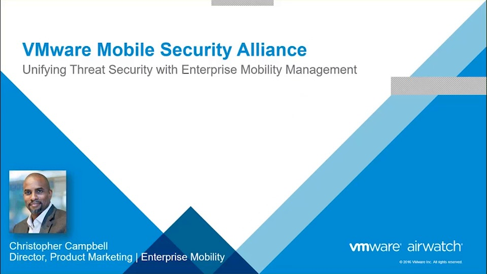 Solving Cybersecurity Challenges with the VMware AirWatch Mobile Security Alliance