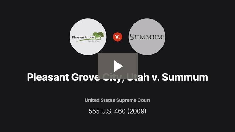 Pleasant Grove City, Utah v. Summum