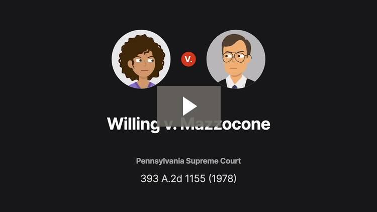 Willing v. Mazzocone