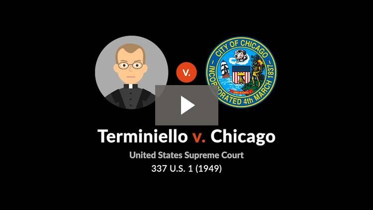 Terminiello v. City of Chicago
