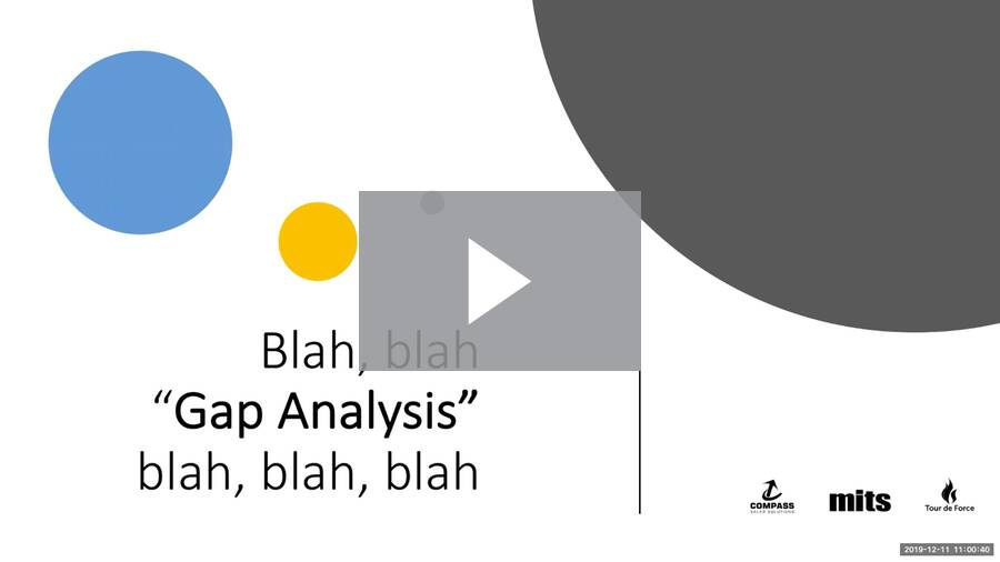 Webinar Recording: What the Gap?! Gap Analysis for Distributors