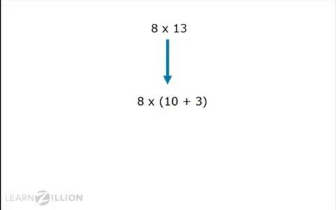 solve multiplication problems using distributive property
