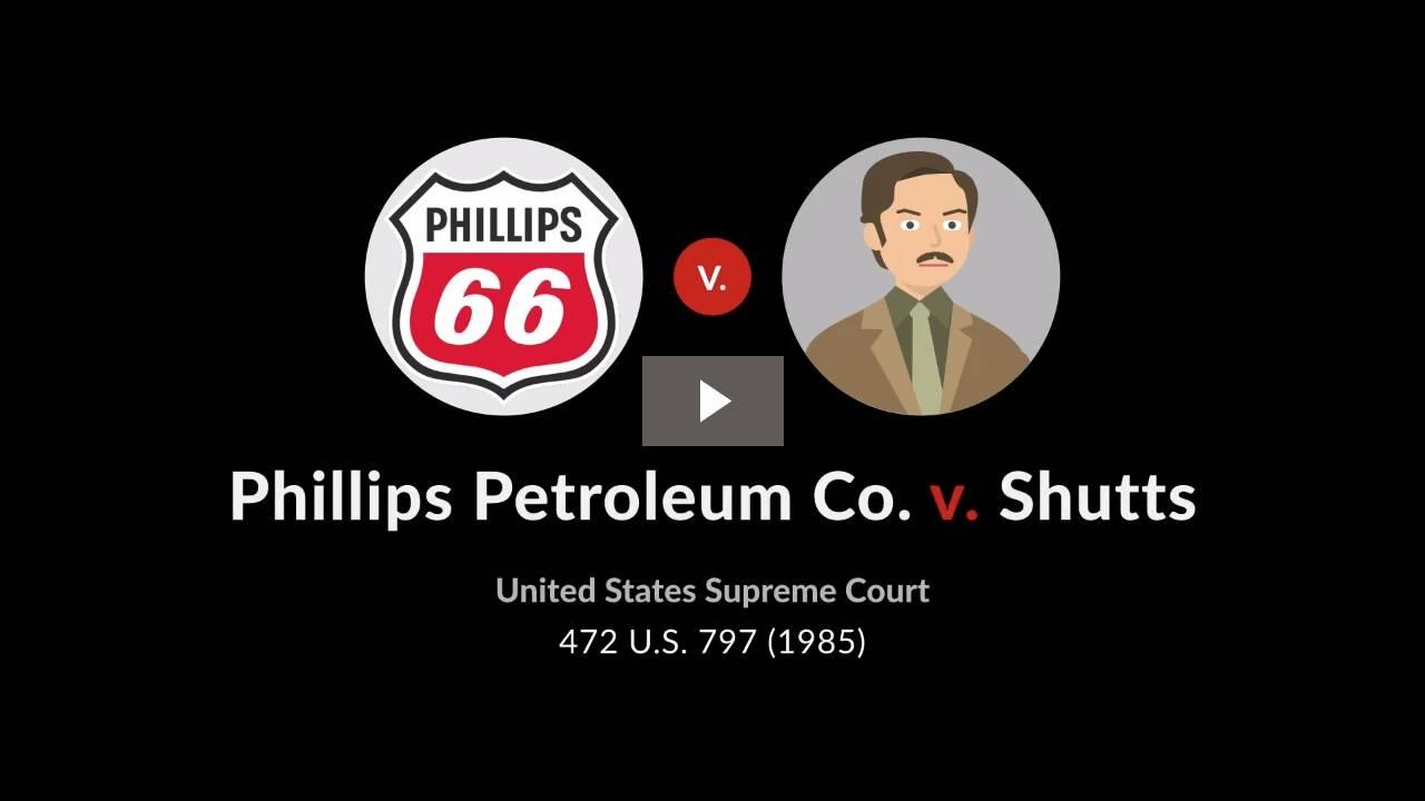 Phillips Petroleum Co. v. Shutts