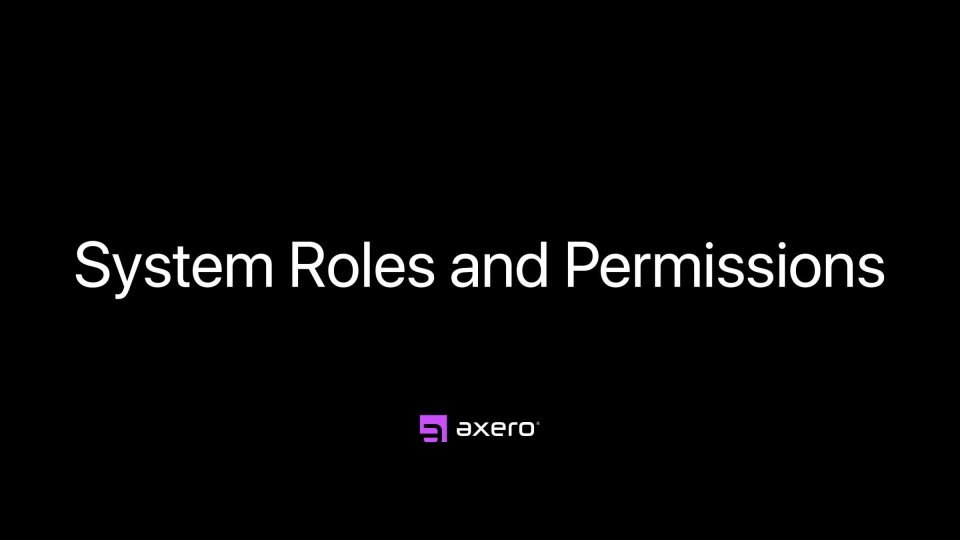 System Roles and Permissions