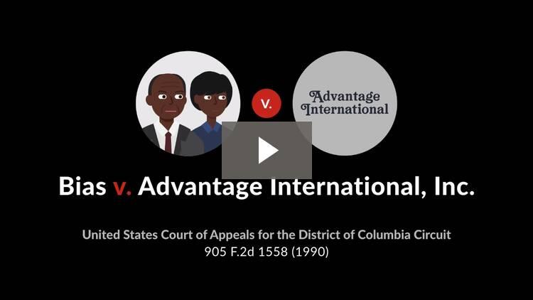 Bias v. Advantage International, Inc.