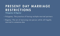 Marriage Restrictions thumbnail