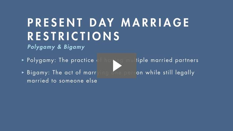 Marriage Restrictions