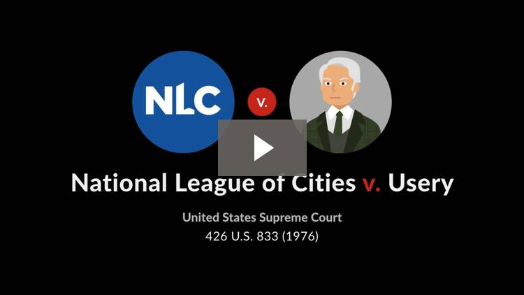 National League of Cities v. Usery