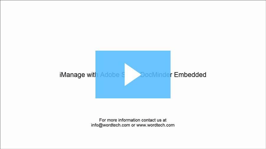 iManage with Adobe Sign / DocMinder Embedded