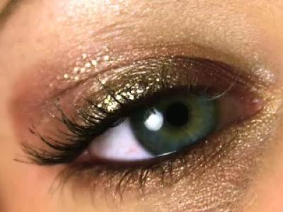 Trucos para maquillar los ojos oro y bronce de Clio Makeup