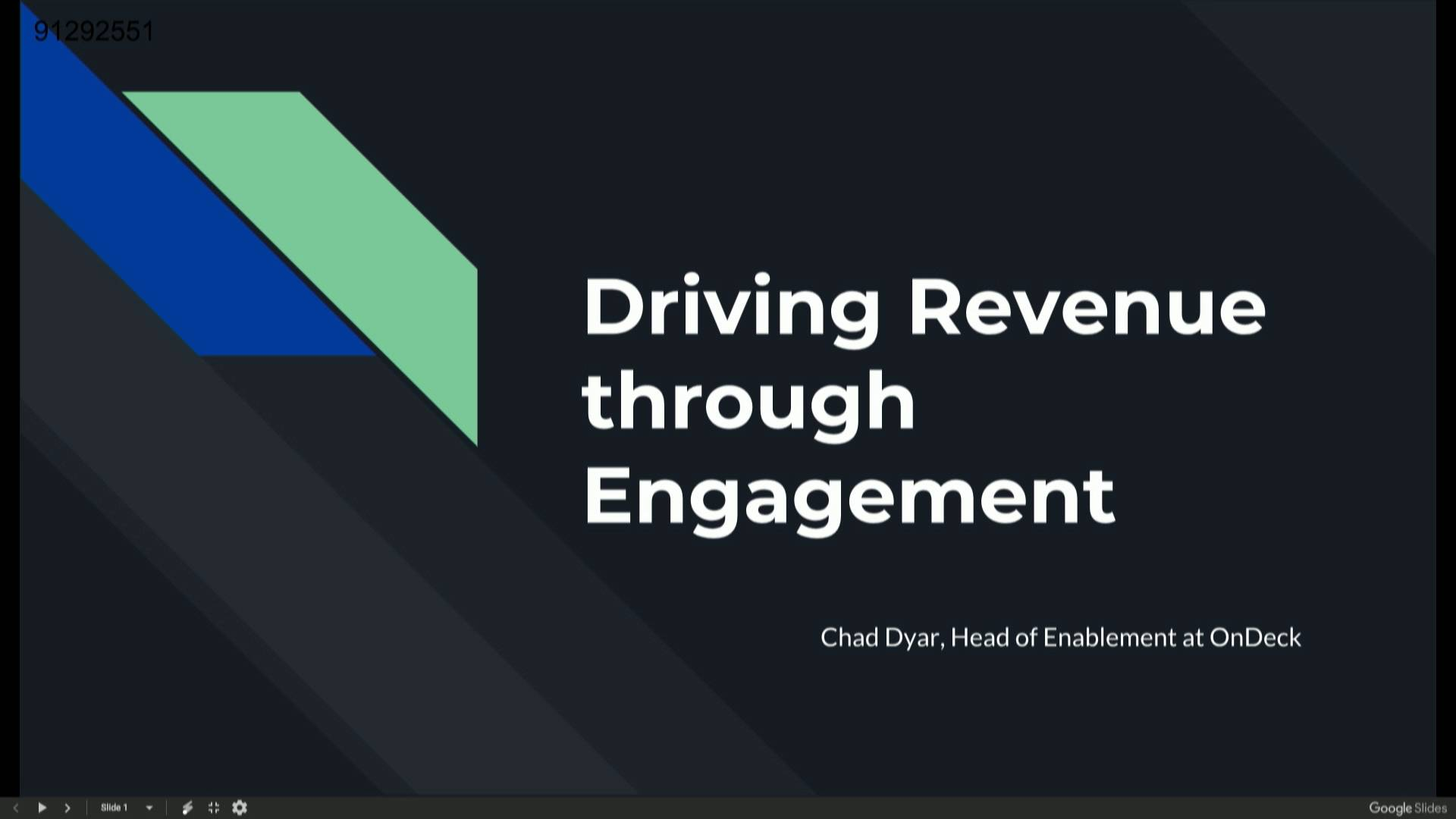 Driving Revenue Through Engagement - Chad Dyer