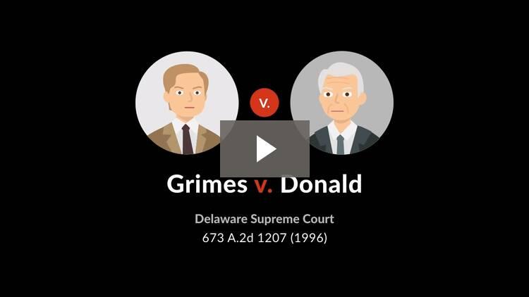 Grimes v. Donald