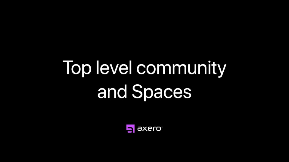 Top level community and Spaces