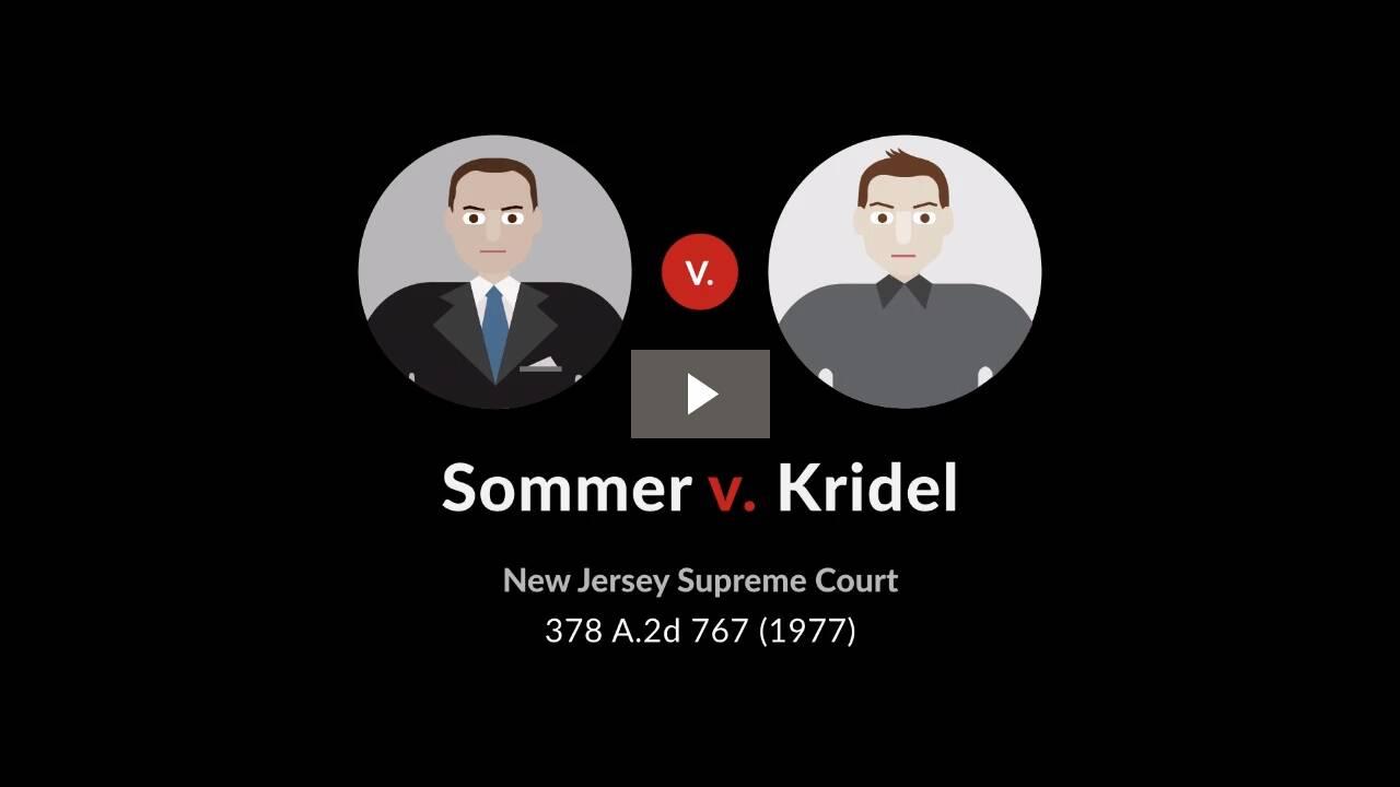 Sommer v. Kridel