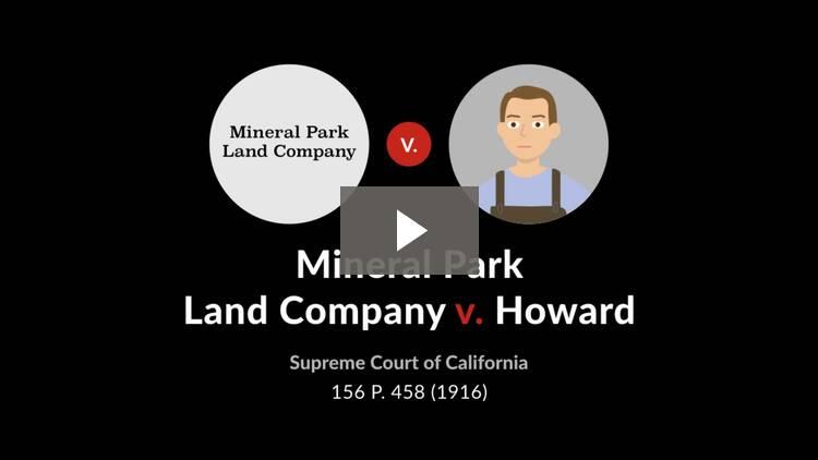 Mineral Park Land Co. v. Howard