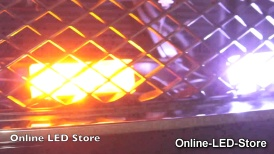 LED Emergency Vehicle Strobe Warning Grille Light Economical Setup Amber & White