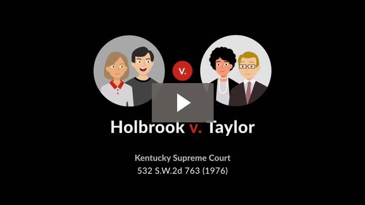 Holbrook v. Taylor