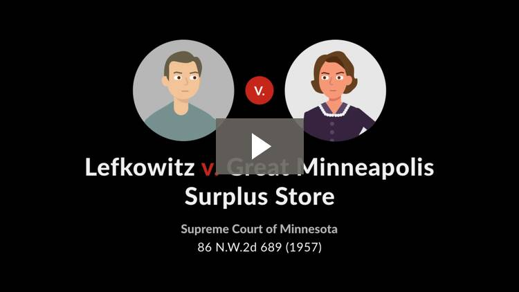 Lefkowitz v. Great Minneapolis Surplus Store