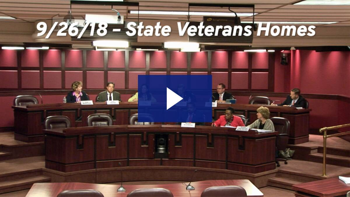 9/26/18 – State Veterans Homes