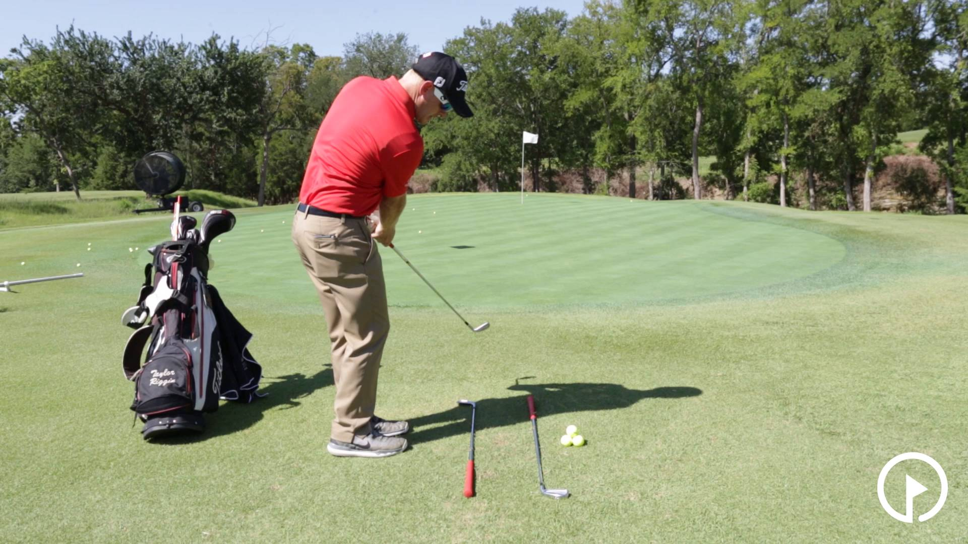 Practice Drills: 2 Club Trough Drill