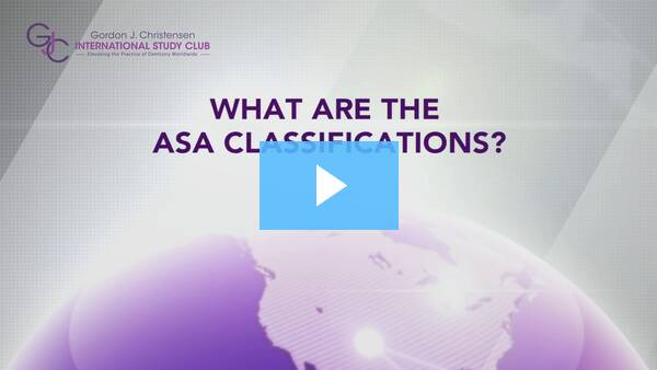Q234 What are ASA classifications?