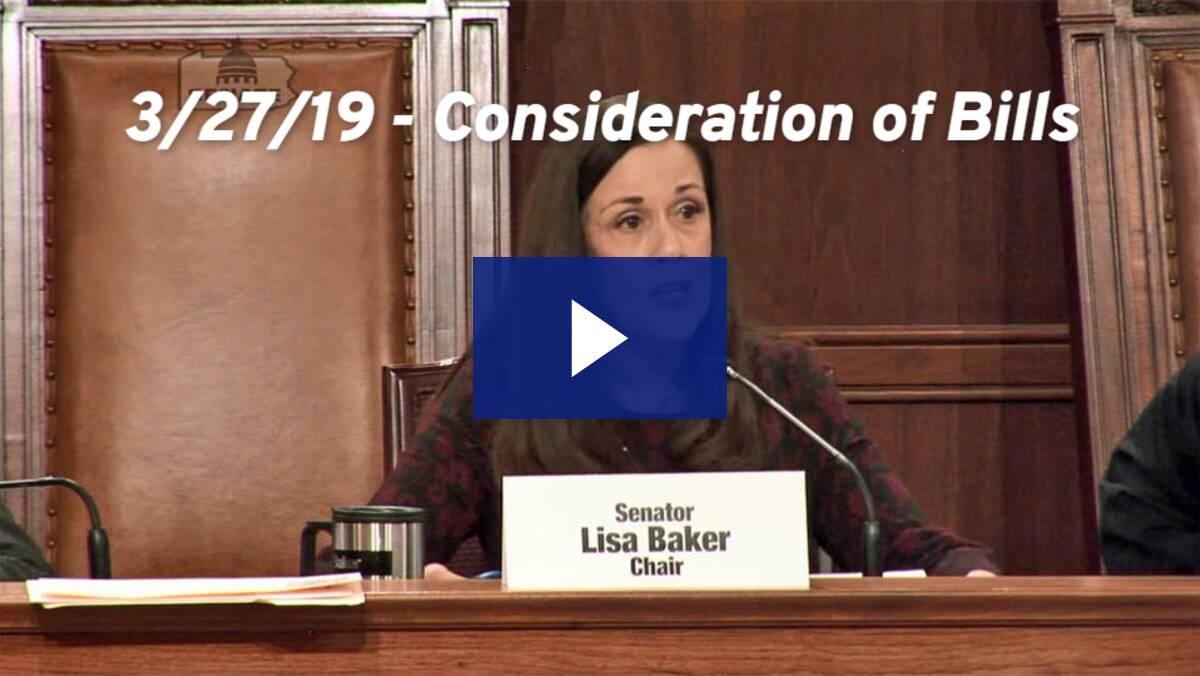 3/27/19 - Consideration of Bills