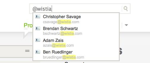 Wistia Quick Search