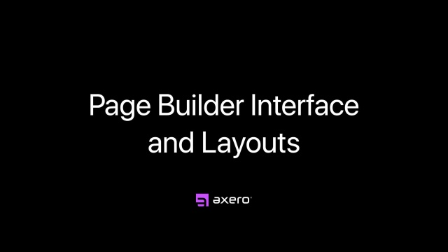 Page Builder Interface and Layouts