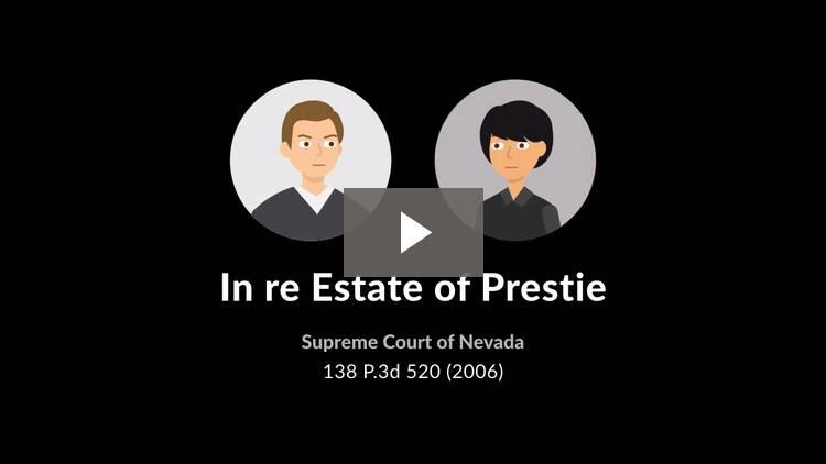 In re Estate of Prestie