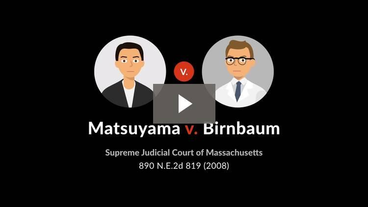 Matsuyama v. Birnbaum