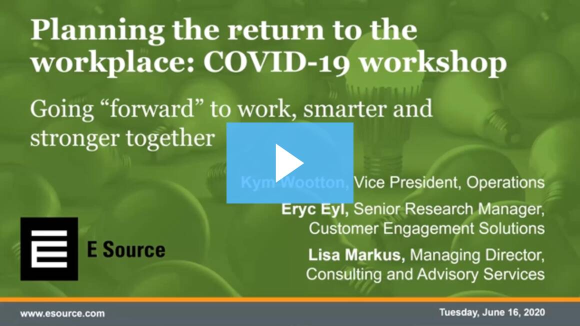 2020-06-16: Planning the return to the workplace: COVID-19 workshop