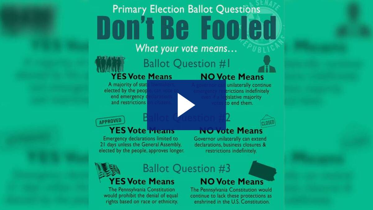 May 18th Ballot Questions