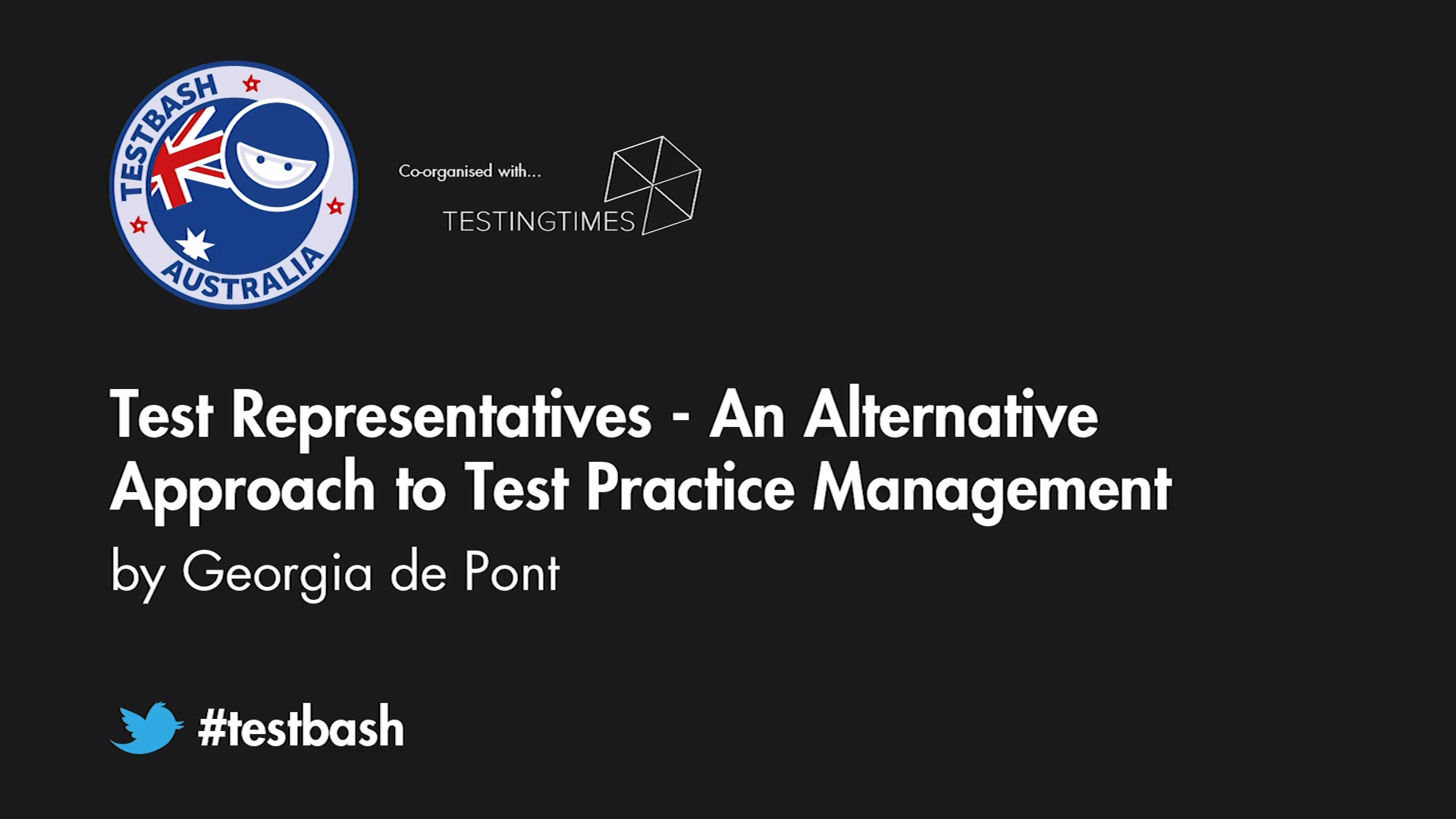 Test Representatives: An Alternative Approach to Test Practice Management - Georgia de Pont