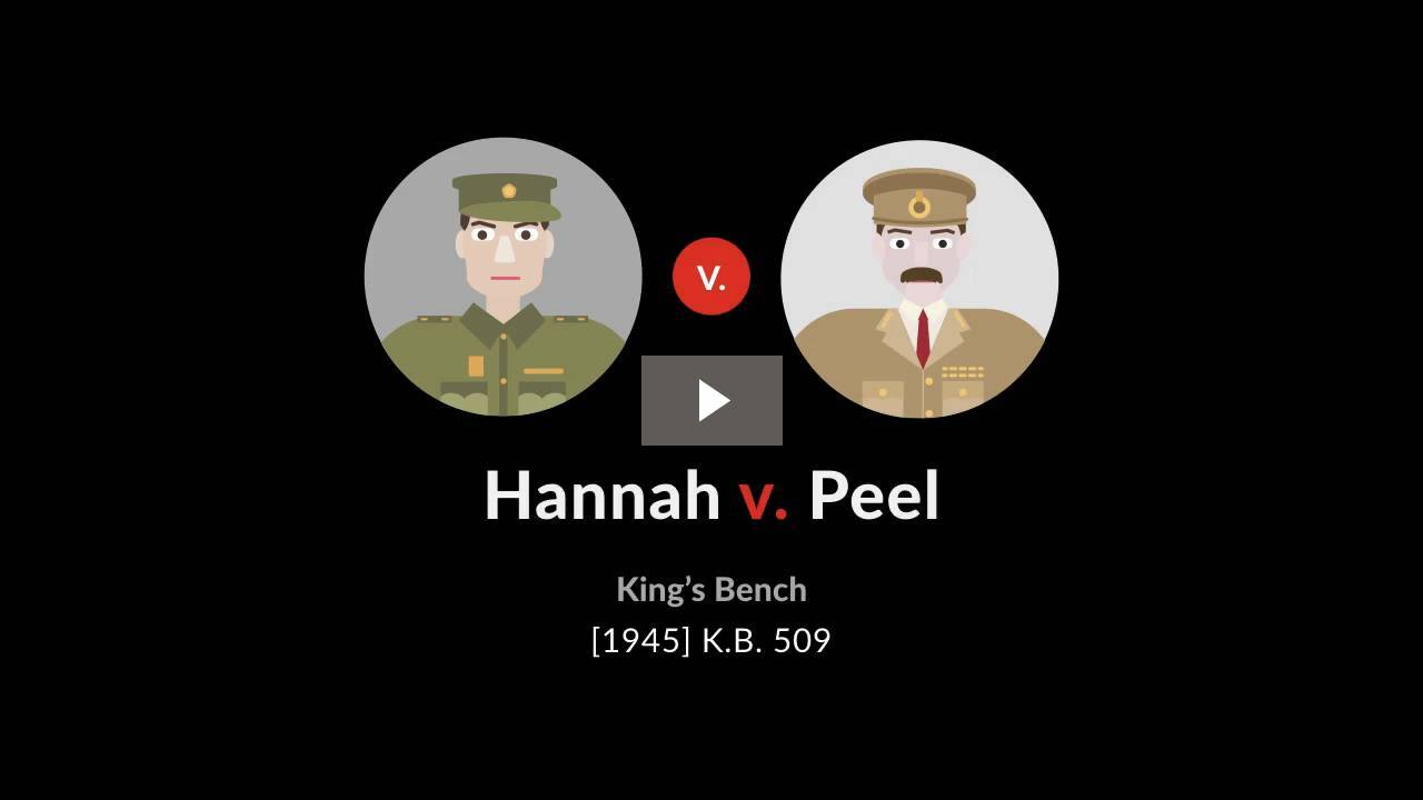 Hannah v. Peel