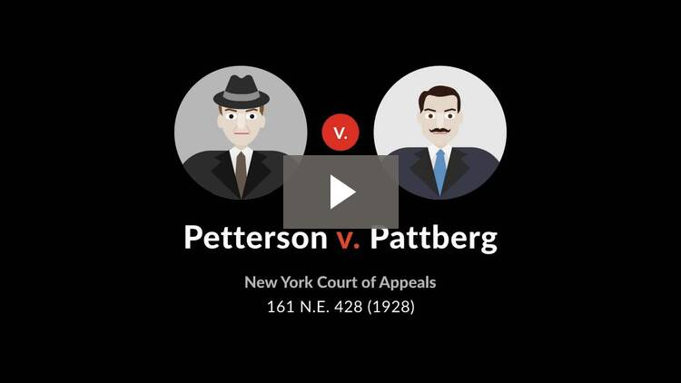 Petterson v. Pattberg